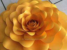 Digital template #34- paper flowers, wedding, Diy, bridal shower, baby shower, baptism
