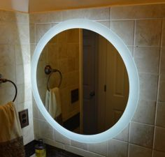 Lighted Bathroom Vanity Mirrors wall mounted lighted vanity mirror led mam52828 commercial grade