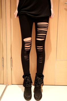 Cut Out Sexy Black Leggings 26.99$ (free shipping on orders) *Good look with black moccasins too.