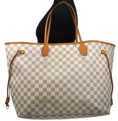 Louis Vuitton Damier Azur Neverfull Gm Shoulder Bag Ebay