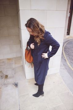 Plates of Style Navy Trench, Tan Leather, Perfect Match Navy Trench Coat, Loewe Bag, Zara Boots, Hobo Bag, Perfect Match, Tan Leather, Cross Body, Sock, Layering