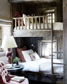 What do you think of this cute wooden bunk bed idea in an alcove? Yes or No? #DesignDebate