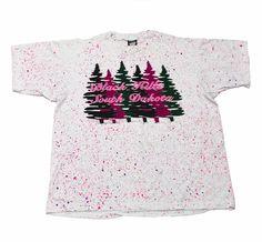 Vintage 90s Black Hills South Dakota Paint Splatter Shirt Mens Size Large $25.00