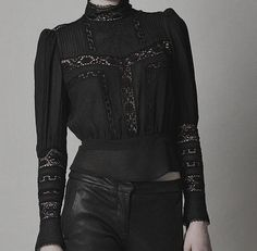 hapless-hollow:  Isabel Marant hamilton embroidered top   Personal Edit