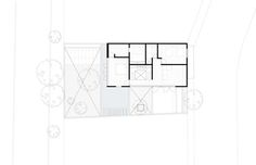 Hill Studio House,Plan