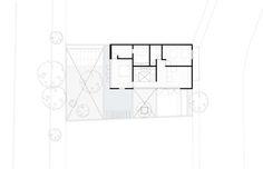 Hill Studio House,Plan