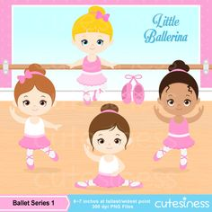 Ballet Digital Clipart 1 : 39 Graphics BEST VALUE!    ----------------------- ★★ Package Included ★★-----------------------------------    *You will
