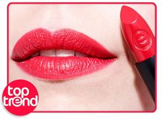 """this week's top trend is a true classic: red lips! we recommend the longlasting lipstick """"02 all you need is red"""" when was the last time you wore red lipstick?  #essence #lipstick #lips #redlips"""
