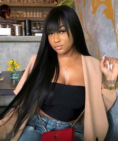 Quality Jingleshair cheap Brazilian Human Hair Wigs Brazilian Remy human hair Lace Front Wigs smooth Straight wholesale for afro women Black Girls Hairstyles, Hairstyles With Bangs, Straight Hairstyles, Straight Weave Hairstyles, Teenage Hairstyles, Boho Hairstyles, Elegant Hairstyles, Formal Hairstyles, Hairdos