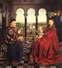 Jan van Eyck, The Virgin of Chancellor Rolin 1435 Wood, 66 x 62 cm Musée du Louvre, Paris