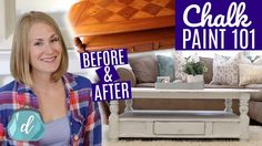 DIY FARMHOUSE TABLE ❤️ Best way to chalk paint furniture!