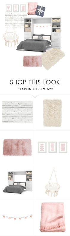 """""""Untitled #140"""" by hanulaa2510 ❤ liked on Polyvore featuring interior, interiors, interior design, home, home decor, interior decorating, Brewster Home Fashions, Nordstrom, Bestar and UGG"""