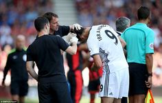 There was a  scare for United when Ibrahimovic suffered a clash of heads with…