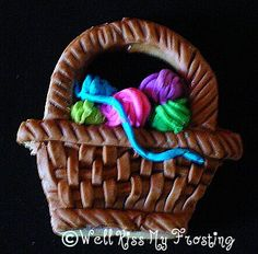 Knitting Basket Cookie by well kiss my frosting, via Flickr