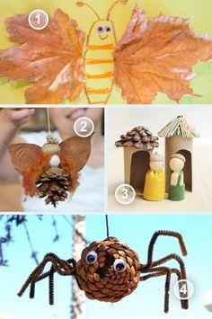 Herfst spin met denneappel
