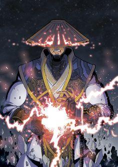 Raiden Mortal Kombat X by Abylaikhan on DeviantArt Raiden De Mortal Kombat, Arte Kombat Mortal, Game Character Design, My Character, Character Drawing, Lord Raiden, Kung Jin, Japanese Drawings, Games