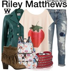 Inspired by Rowand Blanchard as Riley Matthews on Girl Meets World.