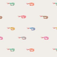 shrimp print by emily isabella Textile Patterns, Textile Design, Textiles, Surface Pattern Design, Pattern Art, Conversational Prints, Design Floral, Pretty Patterns, Pattern Illustration