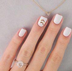 Elegant white nails