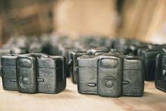 Wooden Cameras Make for Beautiful Wedding Favors