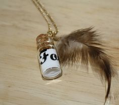Message In A Bottle Necklace - $10.00  Free Shipping