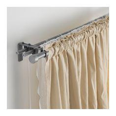 r cka hugad gardinenstangenkomb doppelt silberfarben farben gardinenstangen und. Black Bedroom Furniture Sets. Home Design Ideas