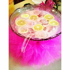 Adorable DIY tutu around punch bowl for girls baby shower