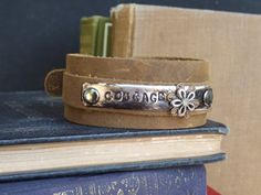 Custom Stamped Bracelet ... Black/Brown Recycled by jennibjeweled, $25.00
