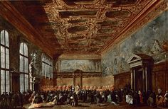 Francesco Guardi - The Doge of Venice Giving Audience in the Sala del Collegio in the Doge's Palace