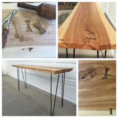 Hairpin Table - Hickory slab sethlanedesign.com