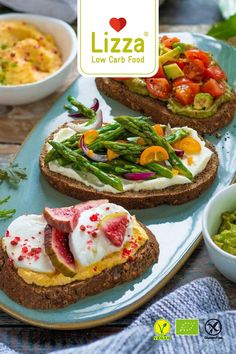 "LOW CARB - KETO DIET - HEALTHY BREAKFAST - HEALTHY SNACK - EASY BREAKFAST - ""Finally, you can easily integrate Bread into your low carb routine."" - Matthias (Founder)  ♥ 90% less carbohydrates than wheat bread ♥Perfect for breakfast, dinner or as a snack ♥High in protein & fibre, gluten-free, 100% organic  #lizza #healthybreakfast #lowcarb #ketorecipes #breakfastrecipes #organic #breakfastideas #ketodiet Healthy Low Carb Snacks, High Protein Snacks, Vegan Snacks, Healthy Breakfast Recipes, Easy Healthy Recipes, Low Carb Recipes, Vegan Recipes, Best Appetizers Ever, Yummy Appetizers"