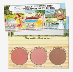 theBalm Cosmetics Girls Getaway Trio Long Wearing Bronzer Blush NIB *The Balm* The Balm Makeup, Makeup Set, Makeup Ideas, Face Makeup, Buy Makeup, Makeup Stuff, Pink Makeup, Makeup Hacks, Makeup Routine