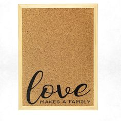 These lovely crafted and designed pinboard fits as a beautiful decoration in every home. The cork pinboard is also great as a gift for a new home or other special occasions. Present For Grandparents, Cork Boards, Make A Family, Family Print, Beautiful Decoration, Message Board, Family Quotes, House Warming, Wall Decor