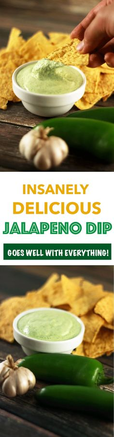 Dips are one of my absolute favorites! And this Jalapeno Dip has the most perfect spicy, tangy combination that will make you want to make it everyday!! YES, it really is that good! | http://ScrambledChefs.com