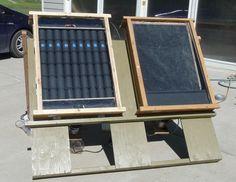 pop can and screen solar collectors