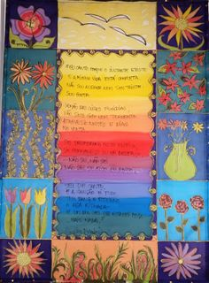 bandô em seda pintada (texto de Cecília Meireles) por Marlene Wolfensberger (Ateliê Lilimarlene)