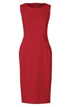 Womens Petite Print Ponte Jersey Sleeveless Darted Dress - 12 - Yellow Lands End Eastbay Online ldJmbJ