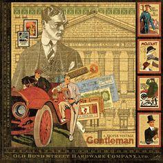 """Dinglefoot's Scrapbooking - A Proper Gentleman 12"""" x 12"""" Scrapbook Paper, $1.05 (http://www.dinglefoot.com/a-proper-gentleman-12-x-12-scrapbook-paper/)"""