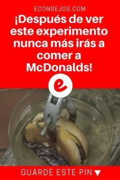 Mcdonalds hace mal | ¡Después de ver este experimento nunca más irás a comer a McDonalds! | Después de ver este experimento, pensará 2 veces antes de ir al McDonalds... ¡El resultado nadie se lo esperaba, es realmente chocante!