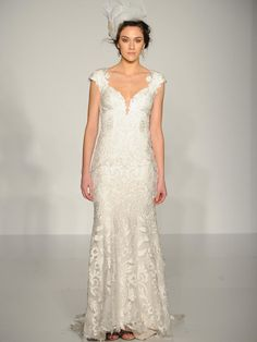 Sottero and Midgley cap-sleeved wedding dress from Fall 2015