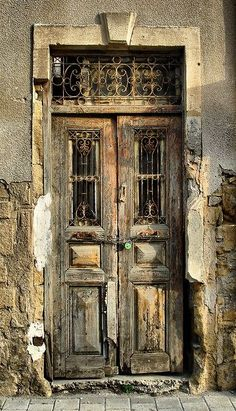 Ancient, weathered door