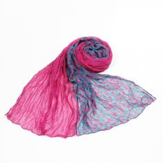 http://www.artfire.com/ext/shop/studio/bohemiantouch/1/1/10311//  Fuchsia Persian Green Vintage Floral Print Celebrity Look Soft Touch Fashion Shawl Scarf, scarf is a great addition to your collection of fashion accessories. Perfect for all year round.