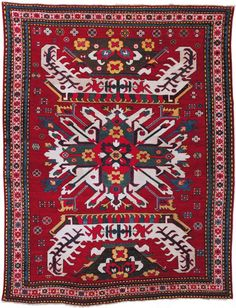 Chelebard Kazak Rug South Caucasus;Second half 19th cent.; 5ft. 5in. x 6ft. x 11in.