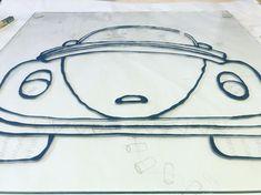 Pronto estará listo este proyecto. Será el resultado de la mezcla de varios materiales e ideas.👩🏼🎨🎨📝🌿🌸 #volkswagen #car #auto #deutsch… My Glass, List, Glass Design, Different Colors, Fine Art America, Volkswagen, Sculptures, Objects, Instagram