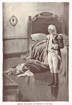 """Ellis's American History - """"ARNOLD REVEALING HIS TREASON TO HIS WIFE"""" - Polychromatic - 1899"""