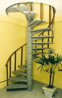 Spiral Stairs Design, Spiral Staircase, Staircase Design, Staircase Railings, Wood Stairs, Stairways, Stairs In Living Room, House Stairs, Stairs Canopy