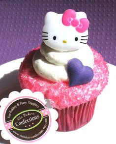 Hello Kitty Cupcake Topper Rings set of 18 by thebakersconfections, $5.50