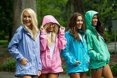 Ready for April showers in #LaurenJames Preptec Rain Jackets! #ShopGeezLouise