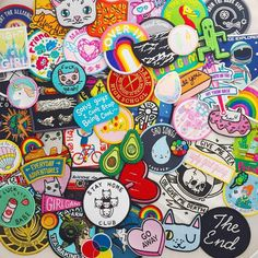 """Hand Over Your Fairy Cakes on Instagram: """"I was challenged by @tobyilikecats to take a picture of my whole patch collection but I couldn't quite fit them all in. #patch #patchcollection #patchcollectionisoutofcontrol #abmlifeiscolorful #thatsdarling #flashesofdelight"""""""