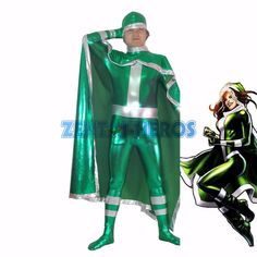 Nieuwe groene x-men rogue superheld kostuum halloween partij cosplay kostuums sexy catsuit zentai pak(China (Mainland))